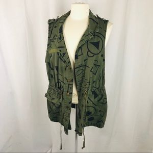 Forever 21 Plus Military Style Vest